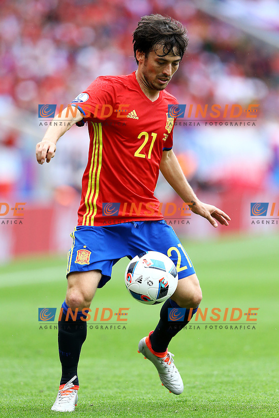 David Silva Spain <br /> Toulouse 13-06-2016 Stade de Toulouse Footballl Euro2016 Spain - Czech Republic  / Spagna - Repubblica Ceca Group Stage Group D. Foto Matteo Ciambelli / Insidefoto