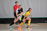 New Zealand's Sophie Scott in action during the World Floorball Championships 2017 Qualification for Asia Oceania Region - New Zealand v Malaysia at ASB Sports Centre , Wellington, New Zealand on Saturday 4 February 2017.<br /> Photo by Masanori Udagawa<br /> www.photowellington.photoshelter.com.