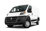 Stock pictures of low aggressive front three quarter view of a 2015 Ram Promaster 1500 136 Wb Low Roof 4 Door Passenger Van 2WD Low Aggressive