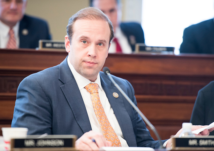 UNITED STATES - MARCH 16: Rep. Jason Smith, R-Mo., participates in the House Budget Committee markup hearing on the GOP health care reconciliation legislation on Thursday, March 16, 2017. (Photo By Bill Clark/CQ Roll Call)