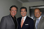 Frank Dicopoulos (Guiding Light) poses with Ernie Anastos and Nick Gregory (Fox 5) news and meteorologist at Loukoumi & Friends Concert held on June 23, 2014 at the Scholastic Theatre, New York City, New York. Proceeds will benefit The Loukoumi Make a Difference Foundation. Foundation first project will be the Make A Difference with Loukoumi television special airing on FOX stations Oct 19-20. (Photo by Sue Coflin/Max Photos)