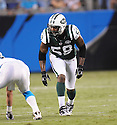 BRYAN THOMAS, of the New York Jets in action during the Jets game against the Carolina Panthers  at Bank of America Stadium in Charlotte, N.C.  on August 21, 2010.  The Jets beat the Panthters 9-3 in the second week of preseason games...