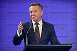 Chris Bowen, Australia's shadow treasurer, speaks during a debate at the National Press Club in Canberra, Australia, on Monday, May 6, 2019. Photographer: Mark Graham/Bloomberg