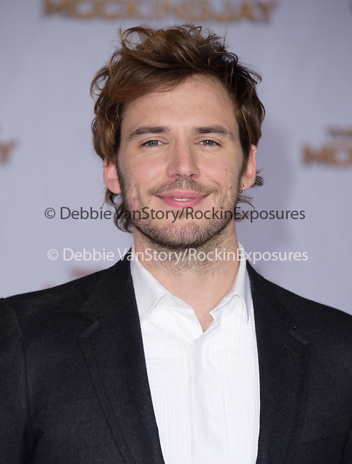 Sam Claflin at The  Los Angeles Premiere of The Hunger Games: Mockingjay - Part 1 held at  Nokia Theatre L.A. Live in Los Angeles, California on November 17,2014                                                                               © 2014 Hollywood Press Agency