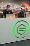 04-11-2015, Europa, UEFA, Leauge, Persconferentie, FC, trainer Erwin van de Looi of FC Groningen, Danny Hoesen of FC Groningen,