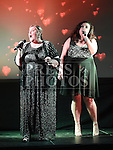 X-Factor contestant Mary Byrne and Voice of Ireland contestant Kayleigh Cullinan performing at the Trio Royale show in St. Kevins GAA club Philipstown. Photo:Colin Bell/pressphotos.ie