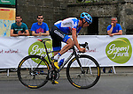 Dan Martin (Garmin-Sharp) on the final lap during the Irish National Men's Elite Road Race Championships held over an undulating course featuring 9 laps centered around the village of Multyfarnham, Co.Westmeath, Ireland. 29th June 2014.<br /> Picture: Eoin Clarke www.newsfile.ie