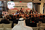 Palestinian leaders attend a conference of Al-Quds (Believe and and Challenges) in the West Bank city of Ramallah on Nov 8,2009. Photo by Issam Rimawi