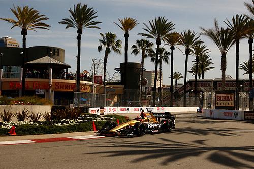 15-17 April, 2016, Long Beach, California USA<br /> 5 James Hinchcliffe<br /> ©2016, Phillip Abbott<br /> LAT Photo USA