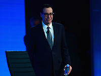 Washington, DC - May 23, 2017: U.S. Treasury Secretary Steven Mnuchin participates in the 2017 Fiscal Summit hosted by the Peter G. Peterson Foundation at the Andrew Mellon W. Mellon Auditorium in the District of Columbia May 23, 2017.  (Photo by Don Baxter/Media Images International)