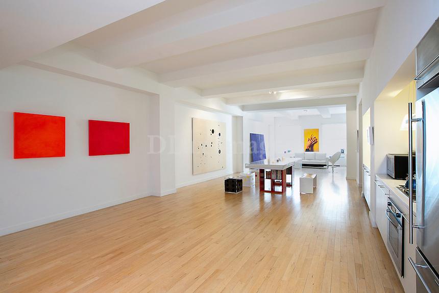 Modern red artwork