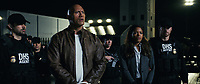 Rampage (2018)   <br /> DWAYNE JOHNSON as Davis Okoye and NAOMIE HARRIS as Dr. Kate Caldwell<br /> *Filmstill - Editorial Use Only*<br /> CAP/MFS<br /> Image supplied by Capital Pictures