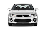 Car photography straight front view of a 2016 Mitsubishi Lancer ES-CVT 4 Door Sedan Front View