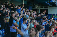 Huddersfield Town fans applaud their team at the final whistle <br /> <br /> Luke Brennan/CameraSport<br /> <br /> The EFL Sky Bet Championship - Queens Park Rangers v Huddersfield Town - Saturday 10th August 2019 - Loftus Road - London<br /> <br /> World Copyright © 2019 CameraSport. All rights reserved. 43 Linden Ave. Countesthorpe. Leicester. England. LE8 5PG - Tel: +44 (0) 116 277 4147 - admin@camerasport.com - www.camerasport.com