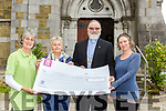 The Venerable Simon Lumby presented a cheque to Transistion Kerry at St Marys church Killarney on Saturday l-r: Sylvia Thompson, Noreen White and Niamh Ní Dhúill