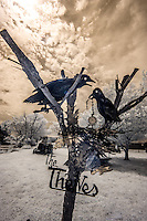 "Red Oak II is the creation of artist Lowell Davis, who's family had pioneered the town of Red Oak.  After success as an artist, he started moving his old home town to his farm 32 miles away creating Red Oak II.  Lowell now lives in what he considers his ""Masterpiece"" in the Belle Starr house where the famous outlaw was raised.  Red Oak II is located a few miles Northeast of Carthage Missouri, just off Route 66."