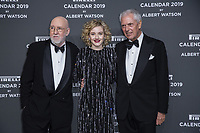"Marco Tronchetti Provera (Pirelli's President), Albert Watson, Julia Garner attend the gala night for official presentation of the Presentation of the Pirelli Calendar 2019 ""The cal"" held at the Hangar Bicocca. Milan (Italy) on december 5, 2018. Credit: Action Press/MediaPunch ***FOR USA ONLY***"