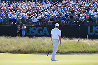 Rory McIlroy (NIR) putts on the 16th green during Thursday's Round 1 of the 118th U.S. Open Championship 2018, held at Shinnecock Hills Club, Southampton, New Jersey, USA. 14th June 2018.<br /> Picture: Eoin Clarke | Golffile<br /> <br /> <br /> All photos usage must carry mandatory copyright credit (&copy; Golffile | Eoin Clarke)