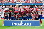 Players of Atletico de Madrid line up and pose for a photo prior to the La Liga 2018-19 match between Atletico de Madrid and Rayo Vallecano at Wanda Metropolitano on August 25 2018 in Madrid, Spain. Photo by Diego Souto / Power Sport Images