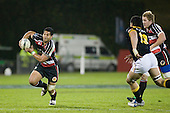 Niva Ta'auso makes a break upfield. Air New Zealand Cup rugby game between Counties Manukau Steelers & Wellington played at Mt Smart Stadium on the 31st August 2007. The Score was 13 all at halftime, with Wellington going on to win 33 - 18.