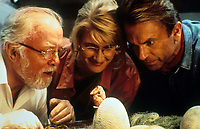 Jurassic Park (1993)<br /> Richard Attenborough, Laura Dern and Sam Neill watch a hatching <br /> *Filmstill - Editorial Use Only*<br /> CAP/KFS<br /> Image supplied by Capital Pictures