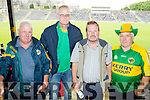 Tim Finucane, Steve Rogers, Martin Driver andPaddy Finucane, all from Abbeyfeale, pictured at the Kerry v Clare football championship semi-final, held at Fitzgerald Stadium, Killarney, on Sunday.