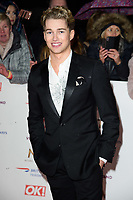LONDON, UK. January 22, 2019: AJ Pritchard at the National TV Awards 2019 at the O2 Arena, London.<br /> Picture: Steve Vas/Featureflash