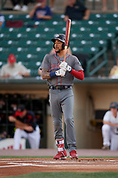 Lehigh Valley IronPigs J.P. Crawford (3) at bat during a game against the Rochester Red Wings on September 1, 2018 at Frontier Field in Rochester, New York.  Lehigh Valley defeated Rochester 2-1.  (Mike Janes/Four Seam Images)