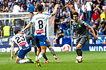 Real Sociedad's Mikel Merino and RCD Espanyol's Esteban Granero and Roberto Rosales during La Liga match. May, 18th,2019. (ALTERPHOTOS/Alconada)