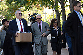 Roger Stone, former campaign adviser to United States President Donald J. Trump, arrives to federal court in Washington D.C., U.S., on Tuesday, November 5, 2019.  Credit: Stefani Reynolds / CNP