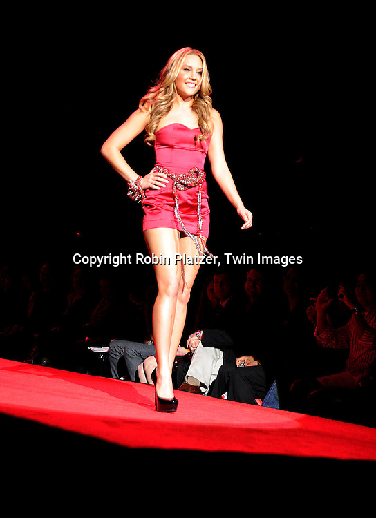 Amanda Bynes in Swarovski..at The Heart Truth's Red Dress Fashion Show on February 12, 2009 at Mercedes Benz FAshion Week. Swarovski was one of the sponsers for this show. ....Robin Platzer, Twin Images