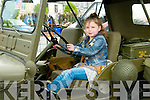 Listowel Military Weekend: Caoimhe Carey, Listowel at the wheel of an American Army jeep during the Military weekend in Listowel on Sunday last.
