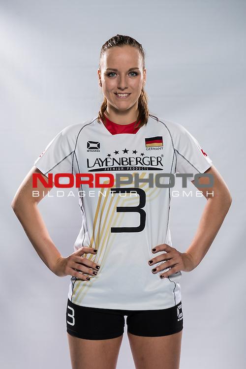 04.06.2015, Bundesleistungszentrum, Kienbaum<br /> Volleyball, Fotoshooting Nationalmannschaft Frauen<br /> <br /> Denise Hanke (#3 GER)<br /> <br />   Foto &copy; nordphoto / Kurth