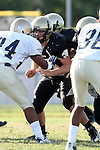 Palos Verdes, CA 10/02/09 - The Vista Murietta Broncos visited the Peninsula Panthers in a non-league contest, won 43-21 by Vista Murietta.  In action are Eddie Arnold (#50)