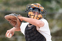 25 April 2010: Benjamin Deruelle of the PUC throws the ball to second base during game 2/week 3 of the French Elite season won 12-0 by Rouen over the PUC, at the Pershing Stadium in Vincennes, near Paris, France.