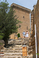 the ruin chateauneuf du pape rhone france