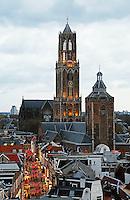 Nederland Utrecht 2015 11 07. De Dom in Utrecht bij avond