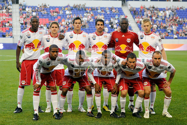 New York Red Bulls starting eleven. The Seattle Sounders defeated the New York Red Bulls 1-0 during a Major League Soccer (MLS) match at Red Bull Arena in Harrison, NJ, on May 15, 2010.