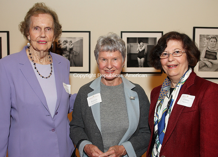 Middlebury, CT-22 October 2007-102207MK01. (From Left) Georgia Middlebrook, Kirsten Peckerman and Genie Rigopulos gathered at the Women's Initiative Fund of the Connecticut Community Foundation annual gathering at Westover School's LBD Performing Arts Center. The reception recognized the 2006 and 2007 grant recipients, as well as those who contributed to the fund, which pools contribution from area women to build an endowment to provide grants for programs benefitting women and children. Michael Kabelka Republican / American.(Georgia Middlebrook, Kirsten Peckerman and Genie Rigopulos) CQ