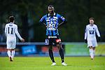 Uppsala 2014-05-07 Fotboll Superettan IK Sirius - &Ouml;stersunds FK :  <br /> Sirius Moses Ogbu deppar<br /> (Foto: Kenta J&ouml;nsson) Nyckelord:  Superettan Sirius IKS &Ouml;stersund &Ouml;FK depp besviken besvikelse sorg ledsen deppig nedst&auml;md uppgiven sad disappointment disappointed dejected