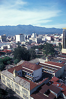 Downtown San Jose, Costa Rica, from above