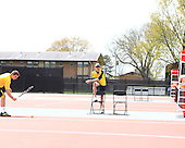 The University of Michigan men's tennis team beat Minnesota, 4-3, in the Big Ten semifinals at the Buckeye Varsity Tennis Center in Columbus, Ohio, on April 27, 2013.