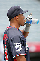 Wilkin Ramirez of the Detroit Tigers organization participates in the Futures Game at Angel Stadium in Anaheim,California on July 11, 2010. Photo by Larry Goren/Four Seam Images