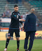 Giampiero Ventura  and Gianluigi Donnarumma  before  the  friendly  soccer match,between Italy  and  France   at  the San  Nicola   stadium in Bari Italy , September 02, 2016<br /> <br /> amichevole di calcio tra le nazionali di Italia e Francia