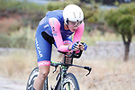 Vittoria Guazzini (ITA) Valcar Cylance Cycling in action during Stage 1 of the Ceratizit Madrid Challenge by La Vuelta 2019 running 9.3km individual time trial around Boadilla del Monte, Spain. 14th September 2019.<br /> Picture: Luis Angel Gomez/Photogomezsport | Cyclefile<br /> <br /> All photos usage must carry mandatory copyright credit (© Cyclefile | Luis Angel Gomez/Photogomezsport)