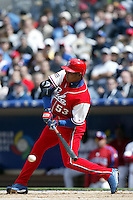 Ariel Borrero of the Cuban national team during game against the Dominican Republic team during the World Baseball Championships at Petco Park in San Diego,California on March 18, 2006. Photo by Larry Goren/Four Seam Images