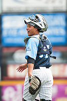Trenton Thunder catcher Francisco Arcia (31) during Media Day at ARM & HAMMER Park on April 1, 2014 in Trenton, New Jersey. (Tomasso DeRosa/Four Seam Images)