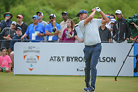Keith Mitchell (USA) watches his tee shot on 1 during round 4 of the AT&T Byron Nelson, Trinity Forest Golf Club, at Dallas, Texas, USA. 5/20/2018.<br /> Picture: Golffile | Ken Murray<br /> <br /> All photo usage must carry mandatory copyright credit (© Golffile | Ken Murray)