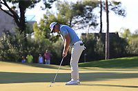 Ryan Fox (NZL) putts on the 17th green during Thursday's Round 1 of the 2018 Turkish Airlines Open hosted by Regnum Carya Golf &amp; Spa Resort, Antalya, Turkey. 1st November 2018.<br /> Picture: Eoin Clarke | Golffile<br /> <br /> <br /> All photos usage must carry mandatory copyright credit (&copy; Golffile | Eoin Clarke)