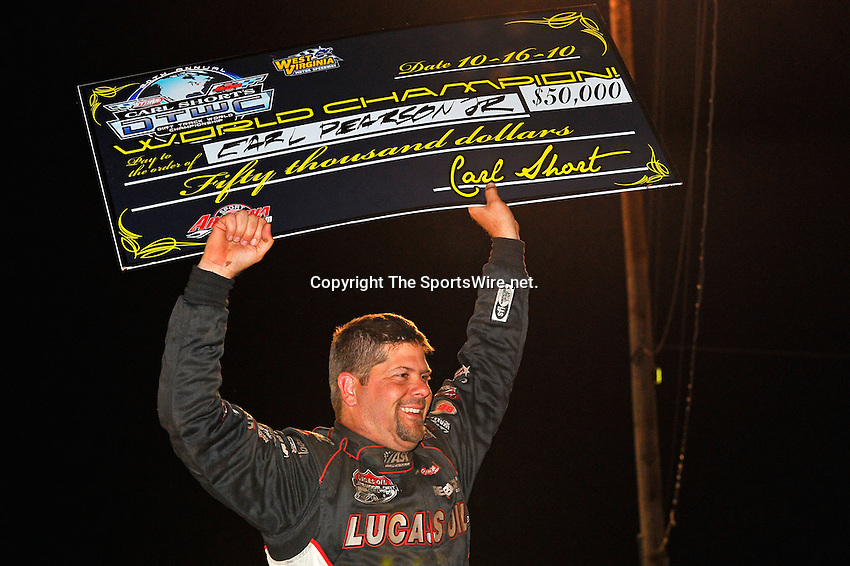 Oct 16, 2010; 11:05:58 PM;Mineral Wells,WV ., USA; The 30th Annual Dirt Track World Championship dirt late models 50,000-to-win event at the West Virginia Motor Speedway.  Mandatory Credit: (thesportswire.net)